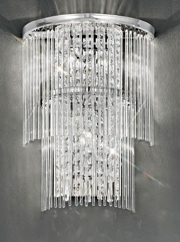 Franklite FL2309/3 Chrome Wall Light (Class 2 Double Insulated)